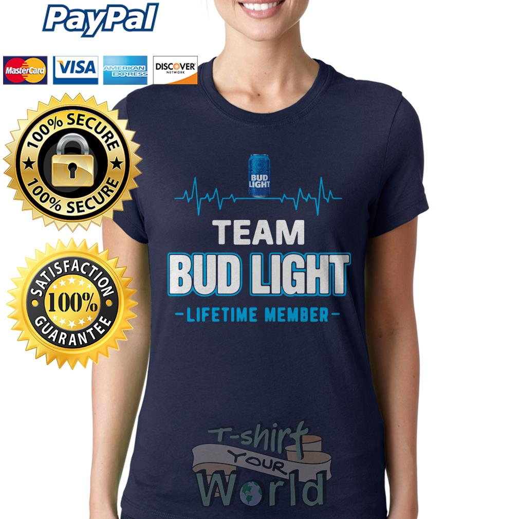 Bud light lifetime member Ladies tee