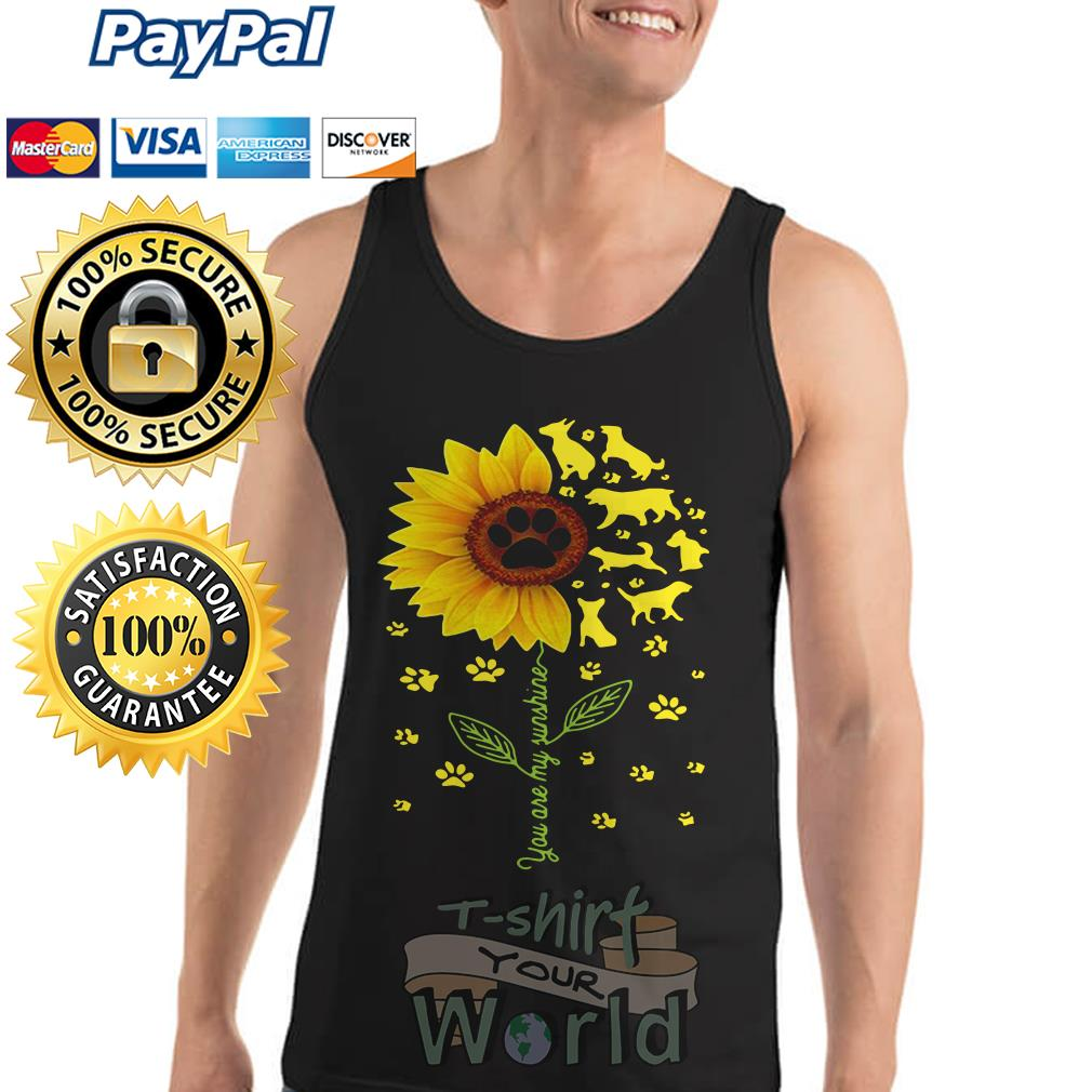 Flower and Dogs You are my sunshine Tank top
