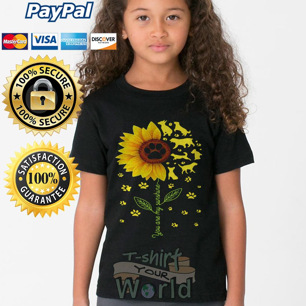 Flower and Dogs You are my sunshine Youth tee