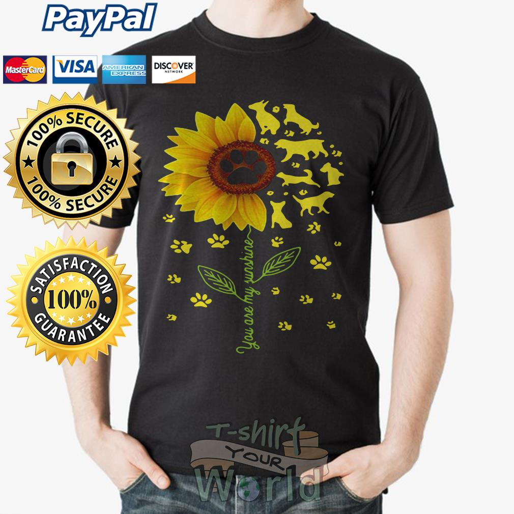 Flower and Dogs You are my sunshine shirt