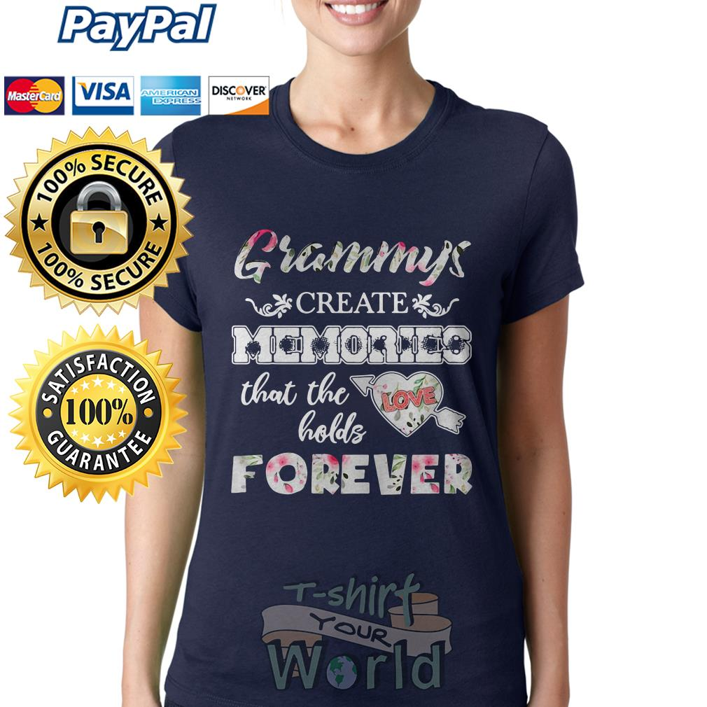 Grammys Create Memories that the holds Love Forever Ladies teeGrammys Create Memories that the holds Love Forever Ladies tee