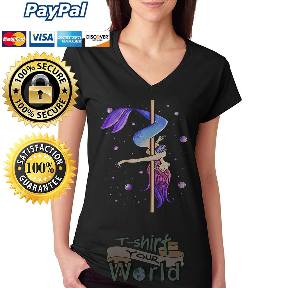 Mermaid pole dancing V-neck T-shirt