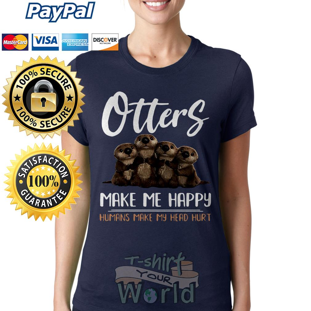 Otter humans make my head hurt Ladies tee