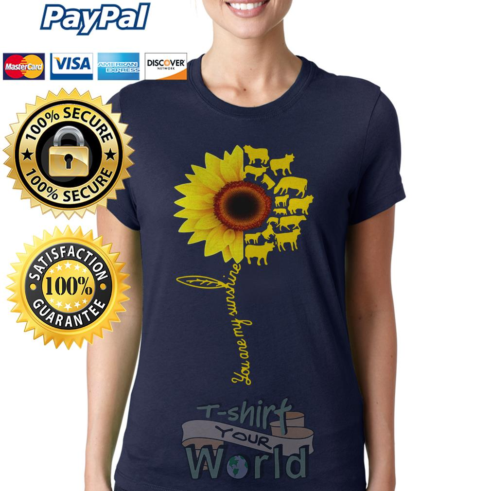You Are My Sunshine Cow Ladies tee