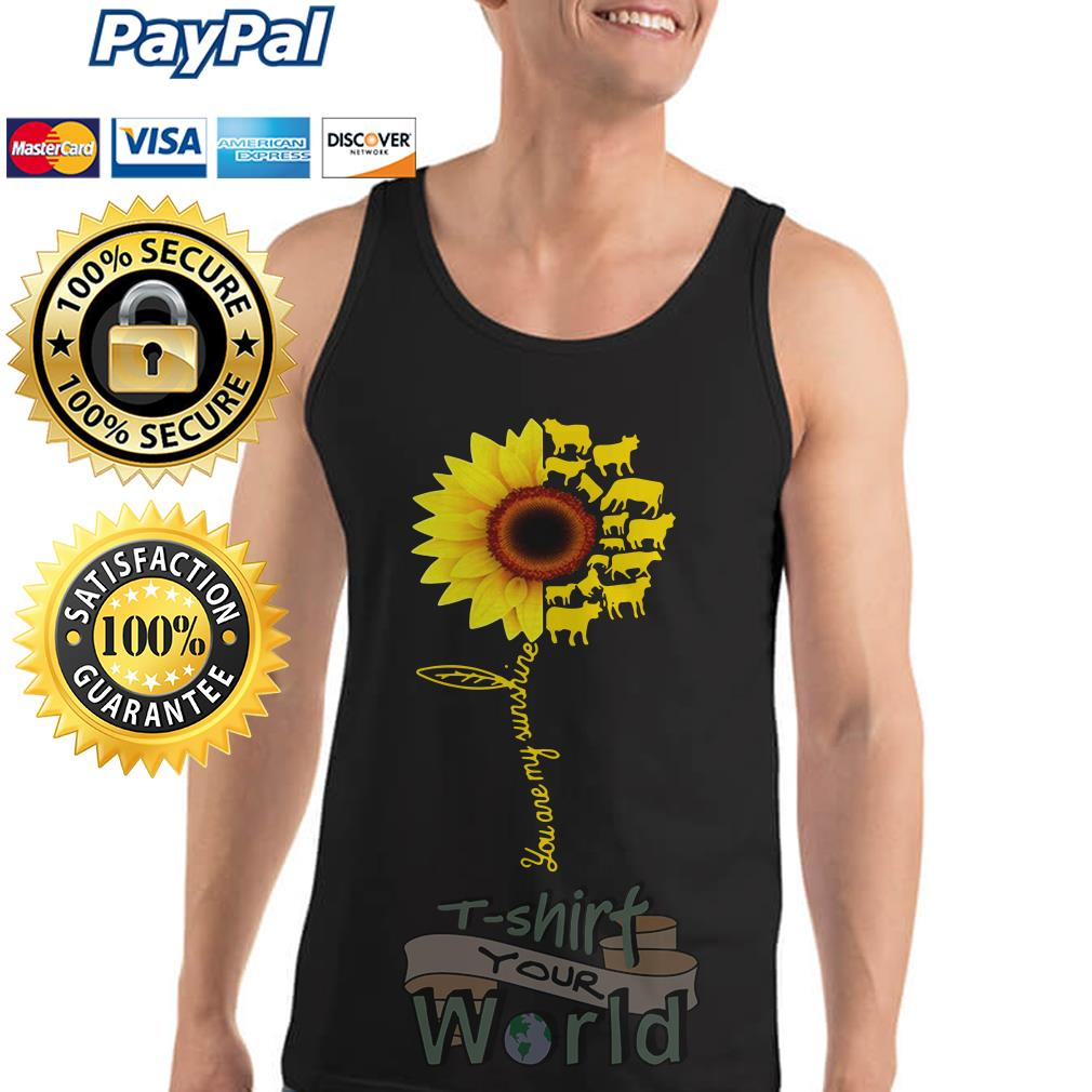 You Are My Sunshine Cow Tank top