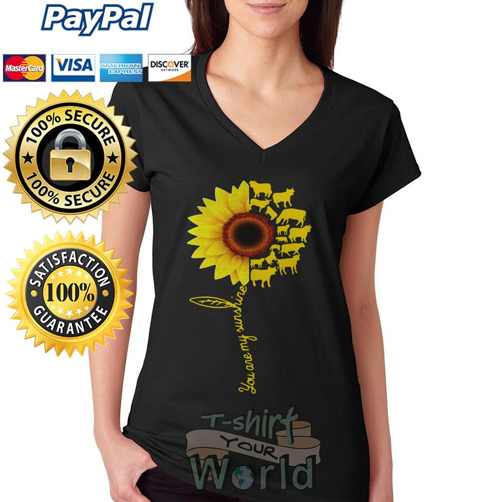 You Are My Sunshine Cow V-neck T-shirt