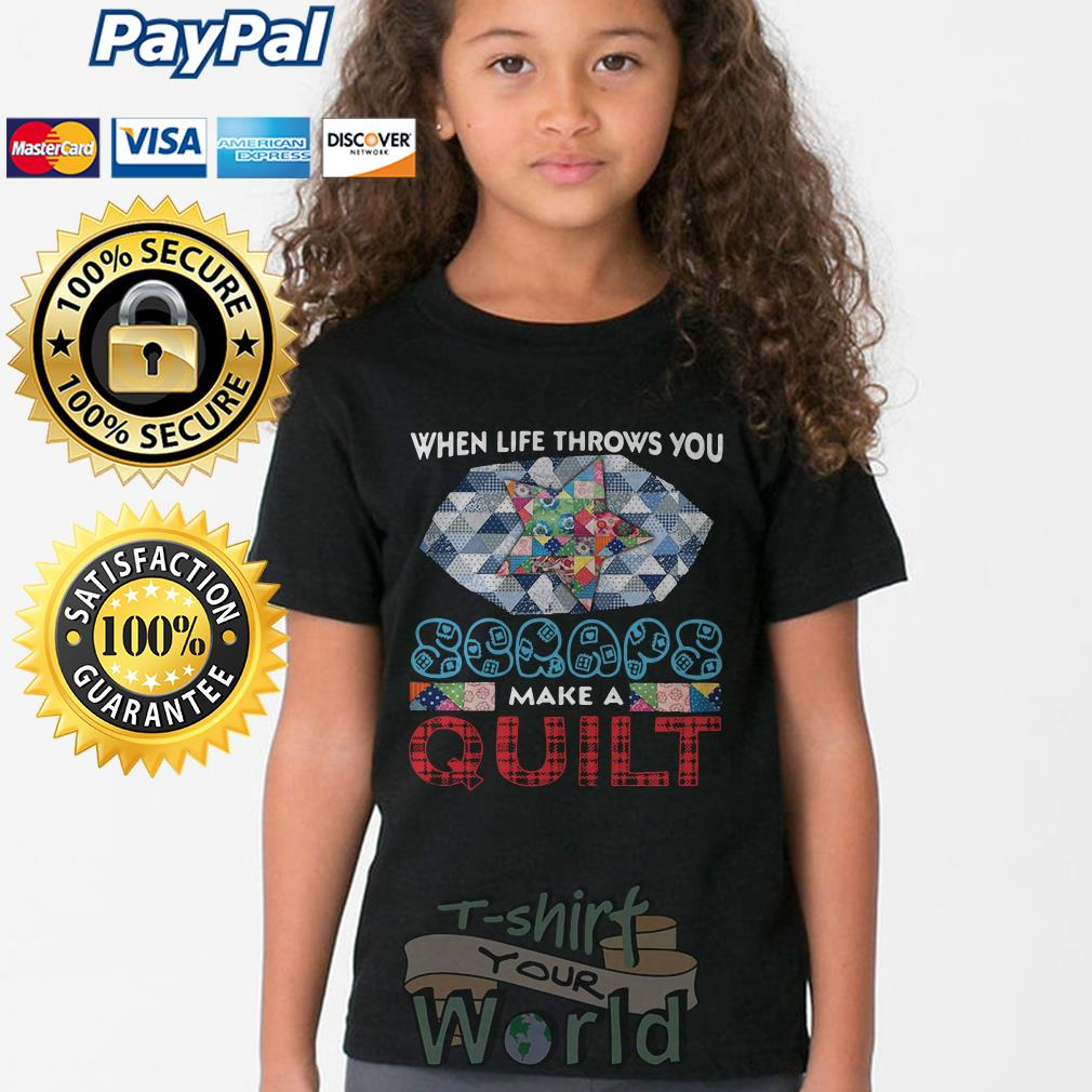When Life Throws You Scraps Make A Quilt Long Sleeve Young tee