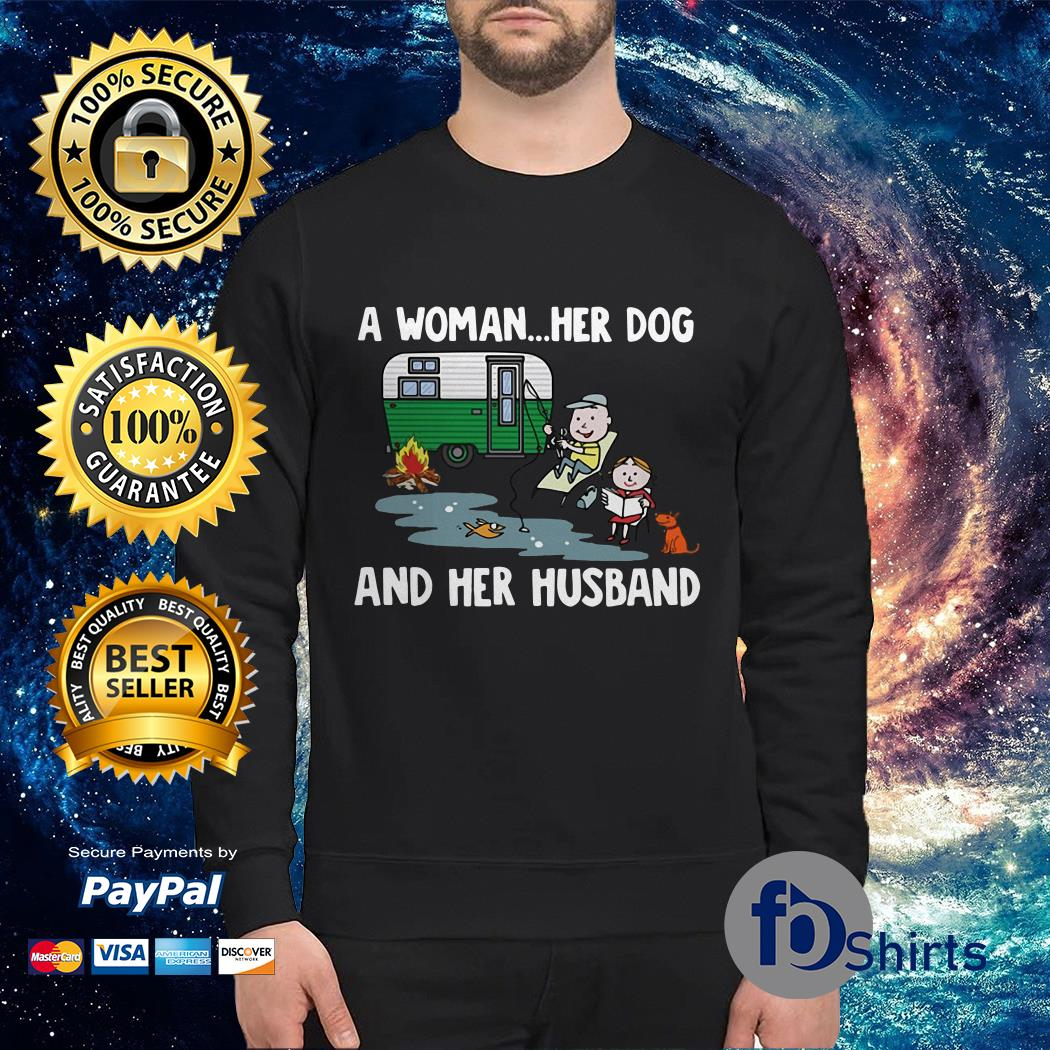A Woman Her Dog and Her Husband Sweater