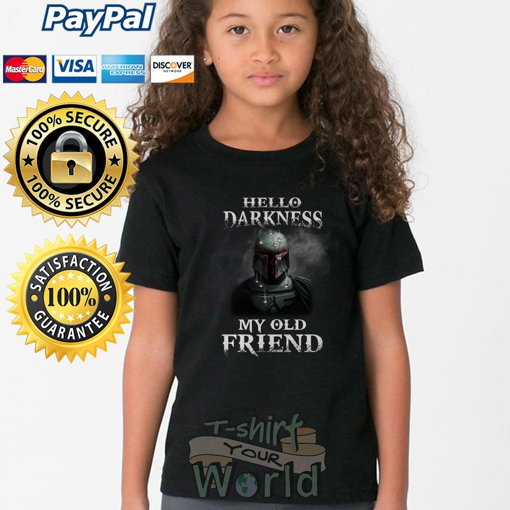 Boba Fett Hello Darkness my old Friend Youth tee