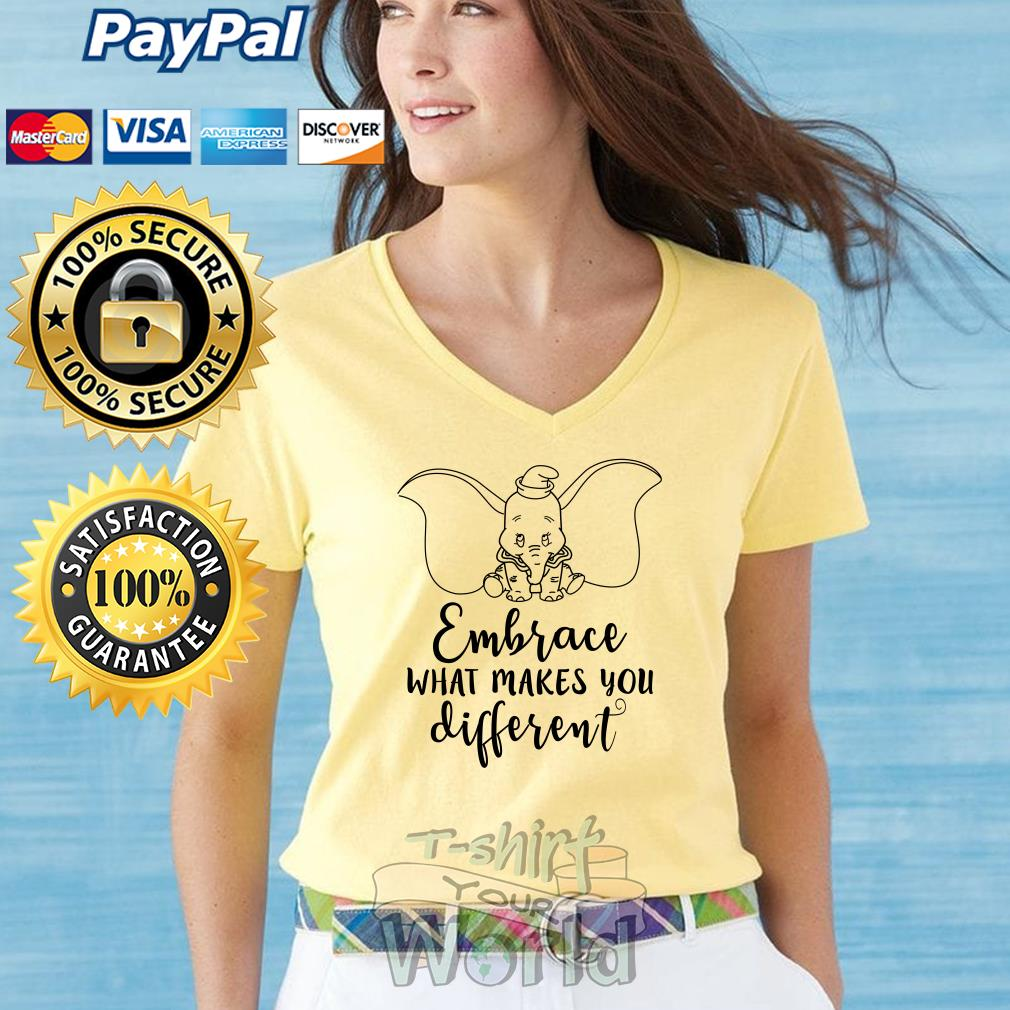 Elephant Embrace what makes you different V-neck T-shirt