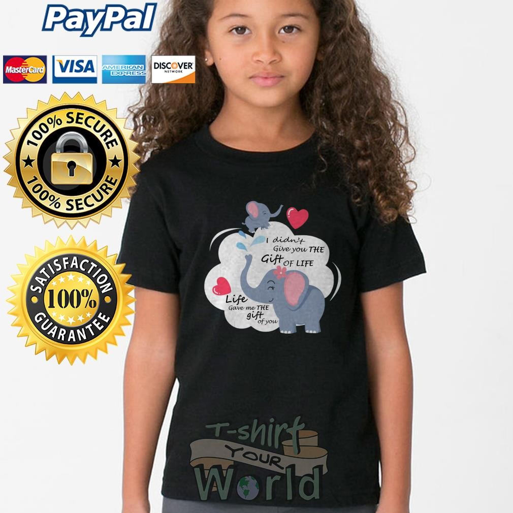 Elephantidae Mom and Child I didn't give you the Gift of you Youth tee