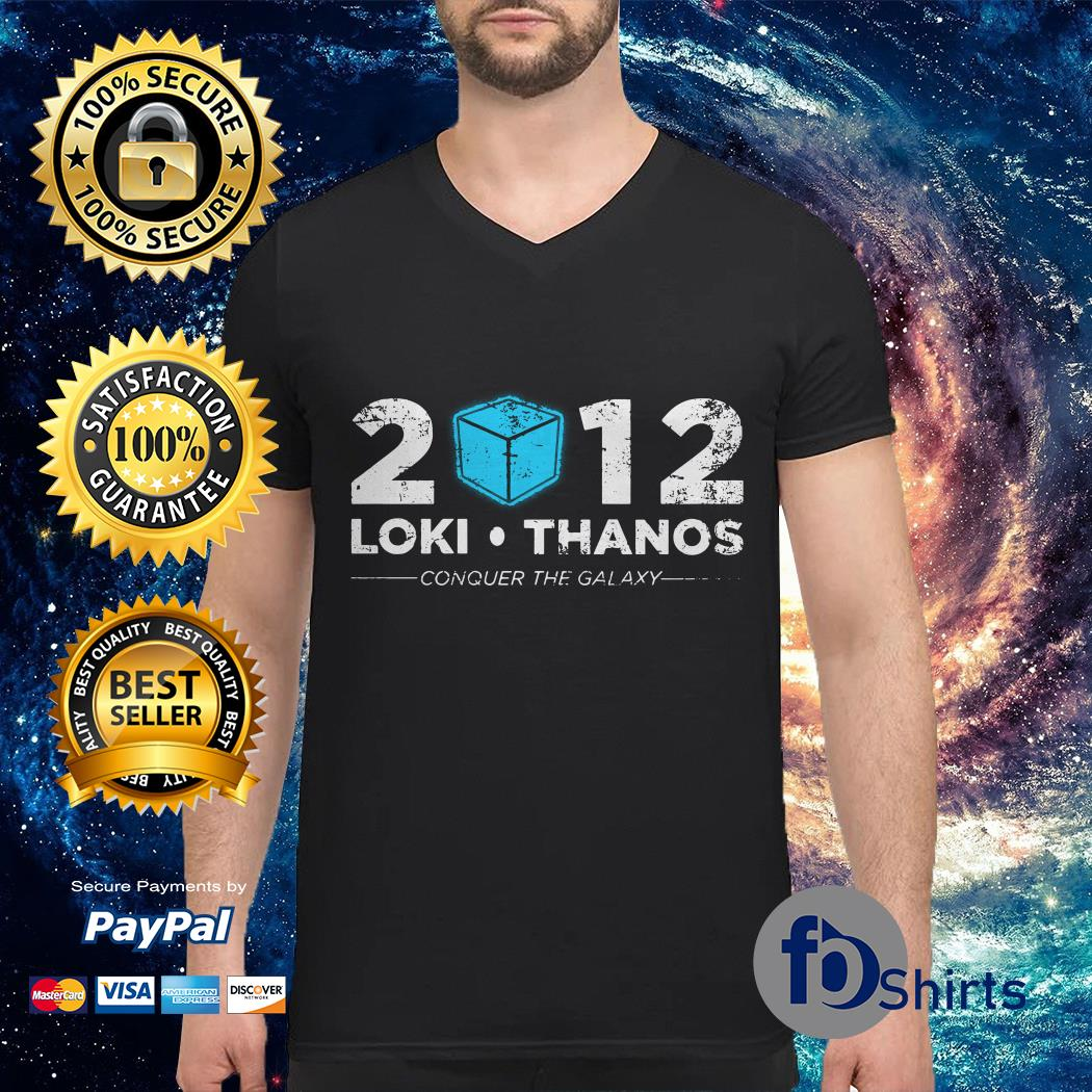 Loki Thanos 2012 support The Gauntlet party V-neck t-shirt