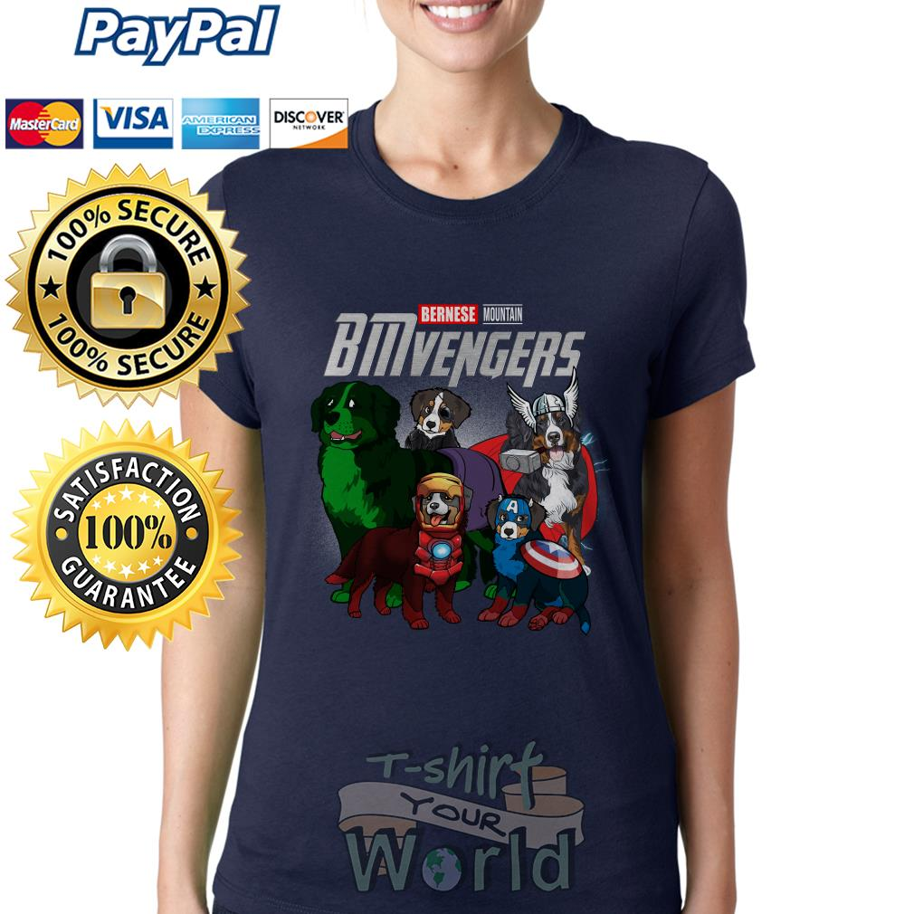 Marvel Avenger Endgame Bernese Mountain Bmvengers Ladies tee