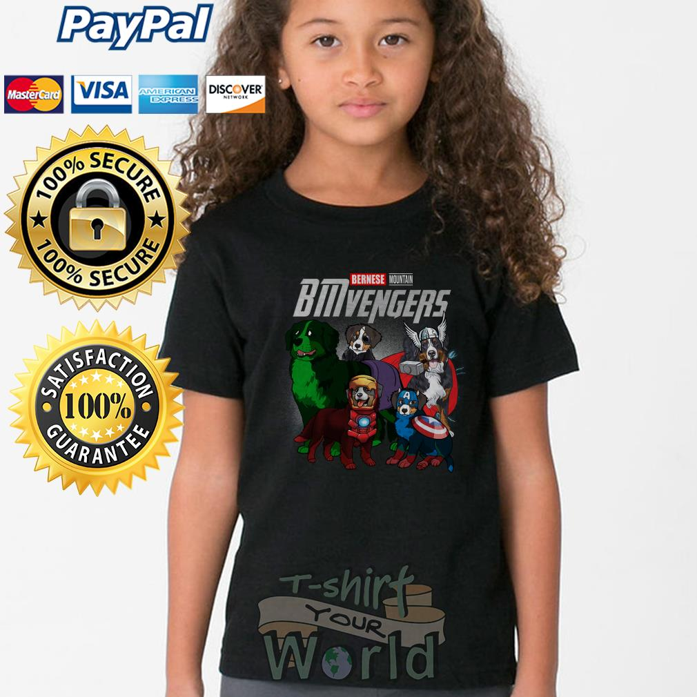 Marvel Avenger Endgame Bernese Mountain Bmvengers Youth tee