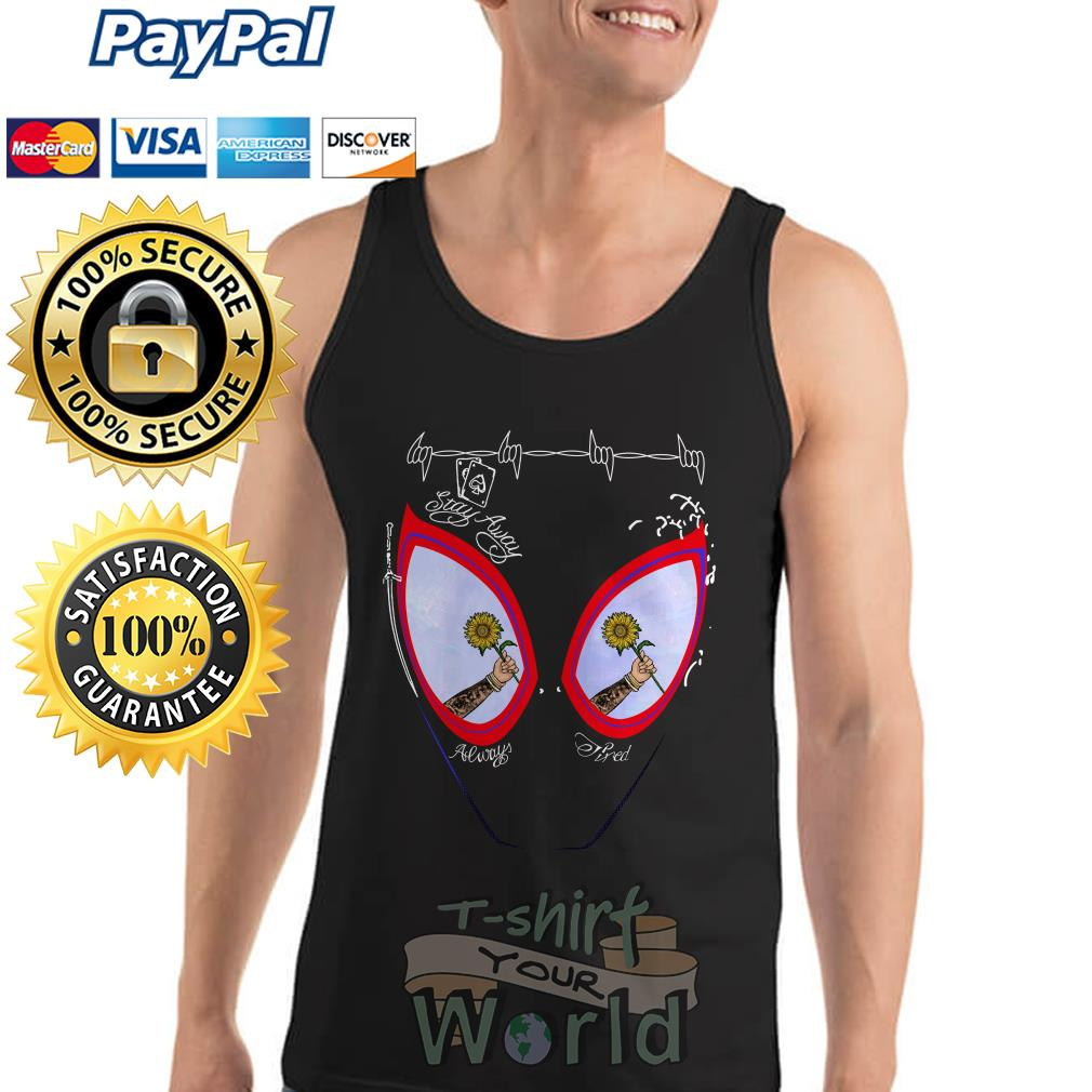 Post Malone face painting stay away always tired Tank top