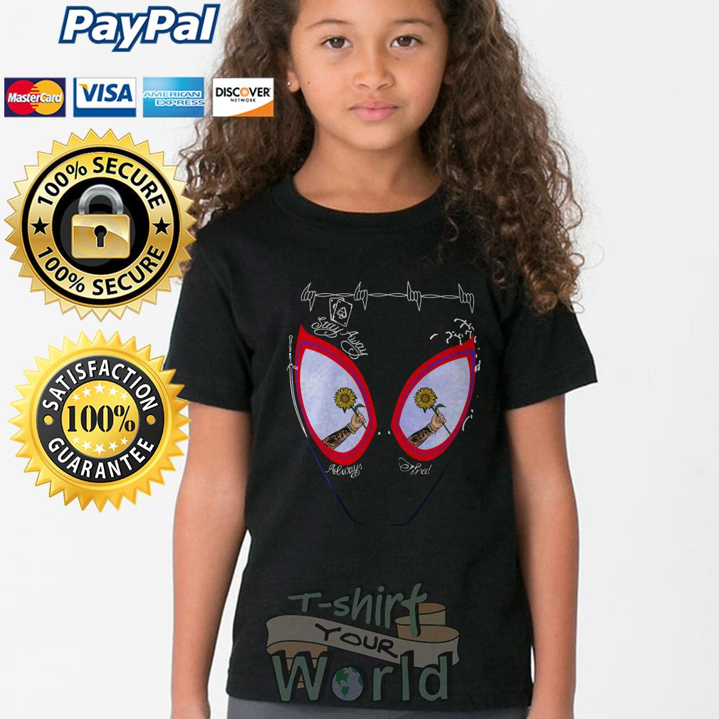 Post Malone face painting stay away always tired Youth tee