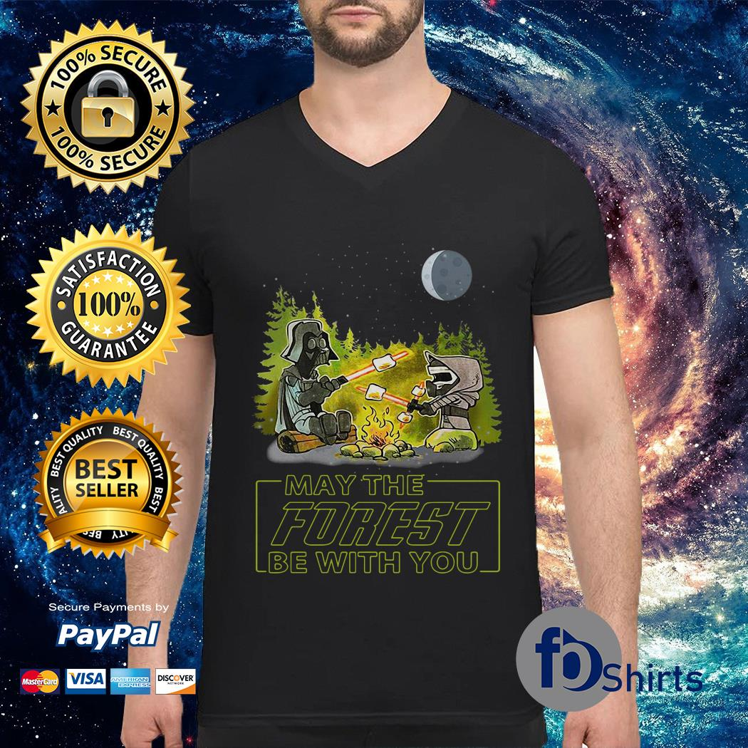 Star Wars May the forest be with you V-neck t-shirt