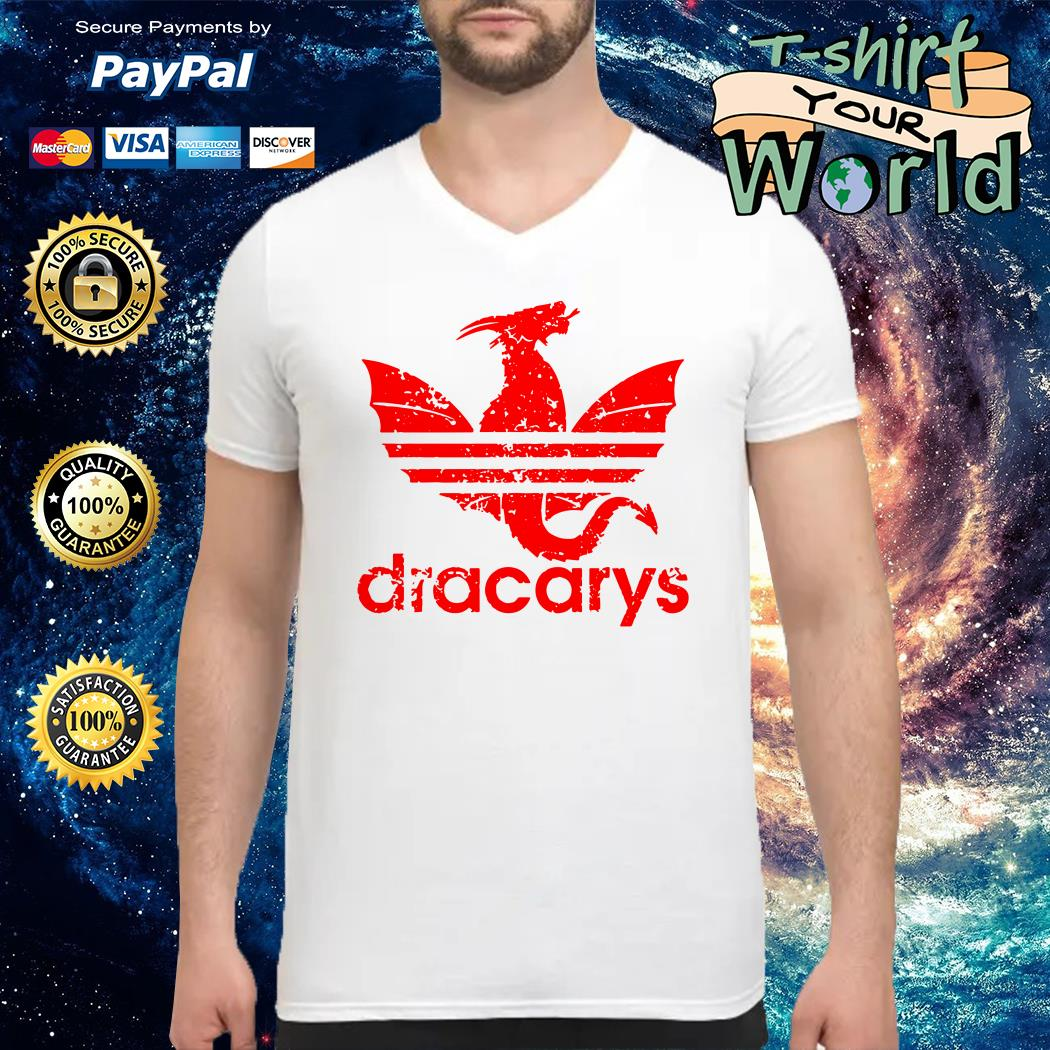 Adidas dracarys dragon V-neck t-shirt