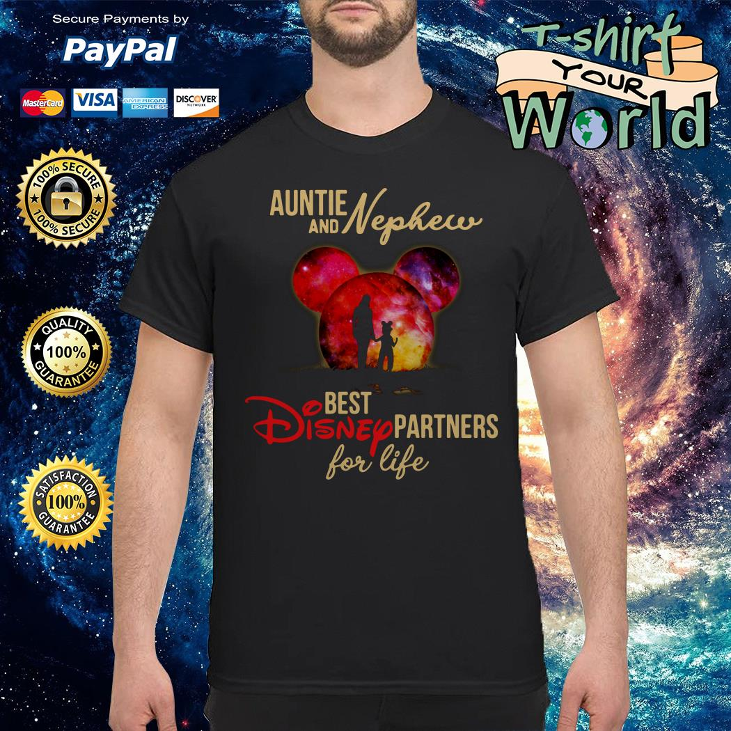Aunt and nephew best Disney partners for life shirt
