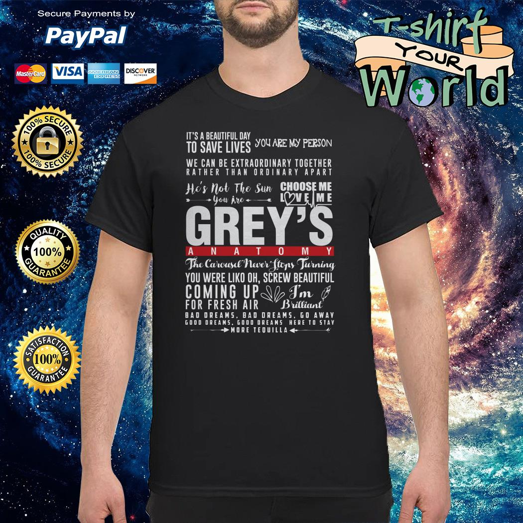 Choose me love me grey's anatomy shirt