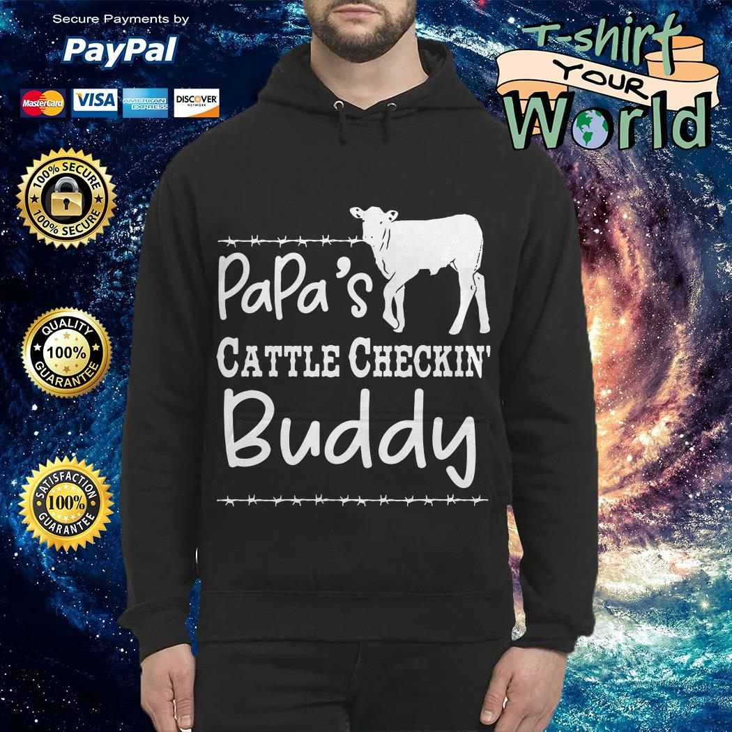 Cow Dad's cattle checkin' buddy Hoodie