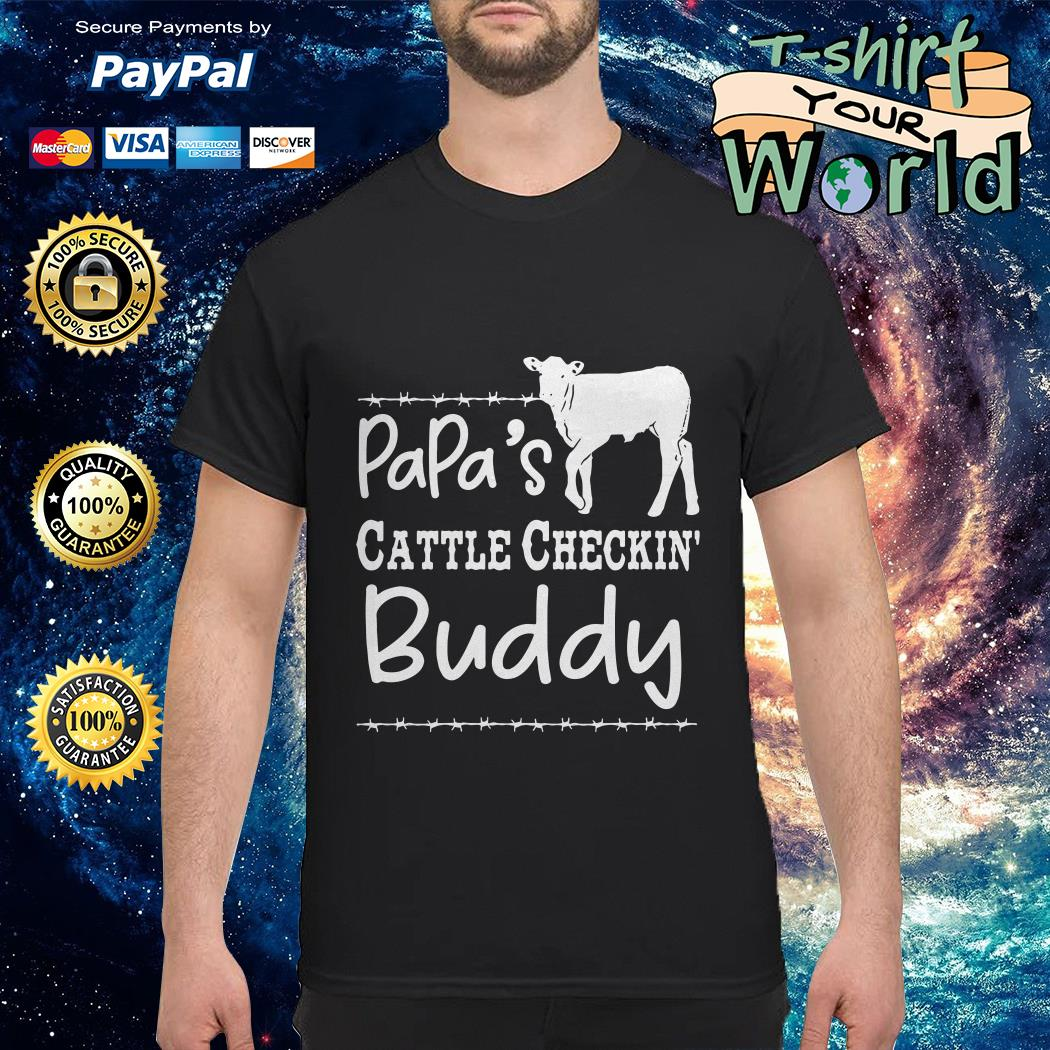 Cow Dad's cattle checkin' buddy shirt