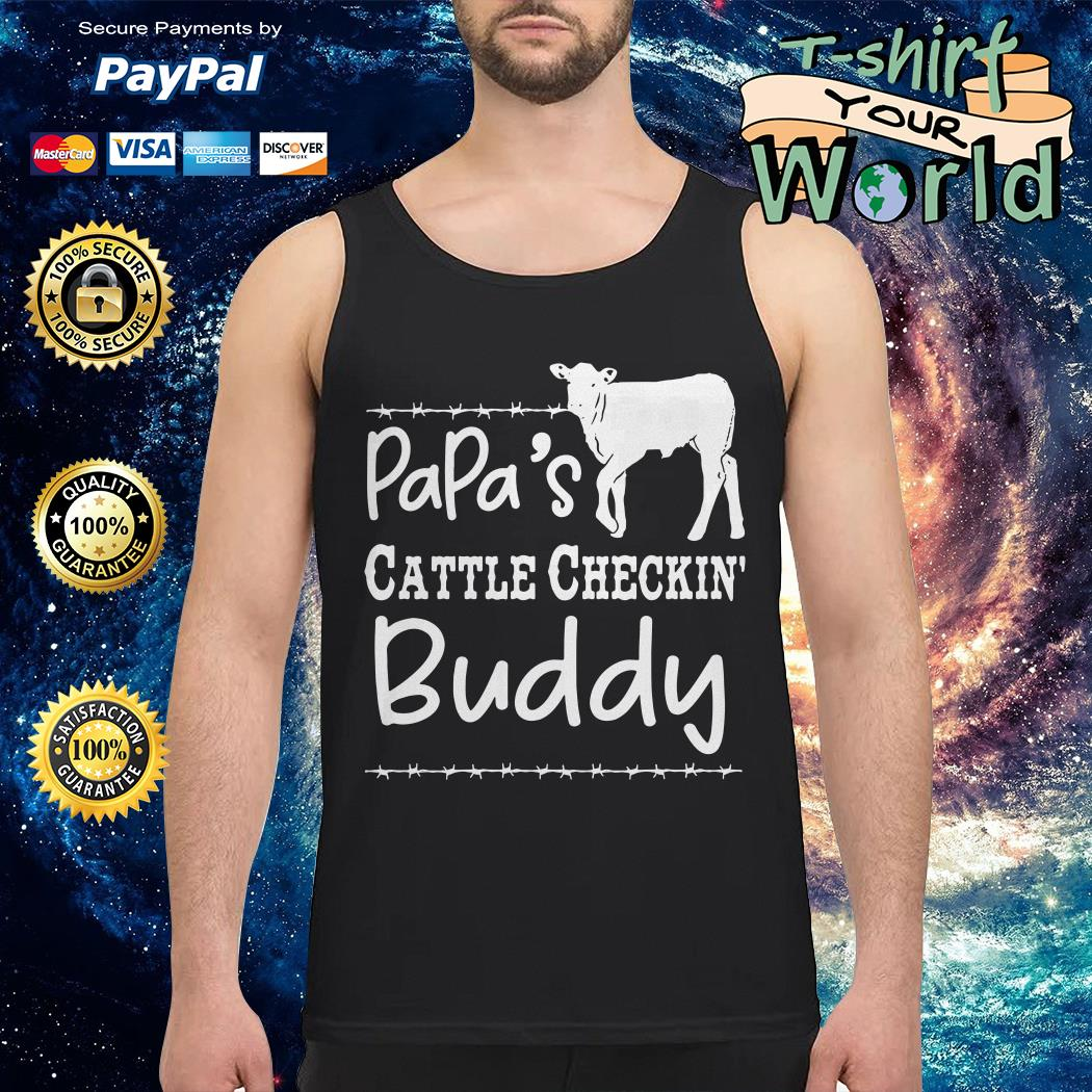 Cow Dad's cattle checkin' buddy Tank top