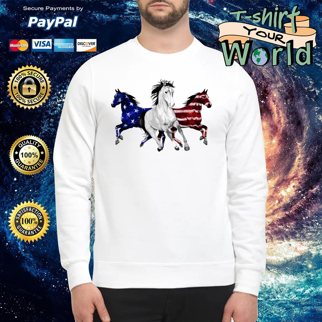 Horse american flag tank Sweater