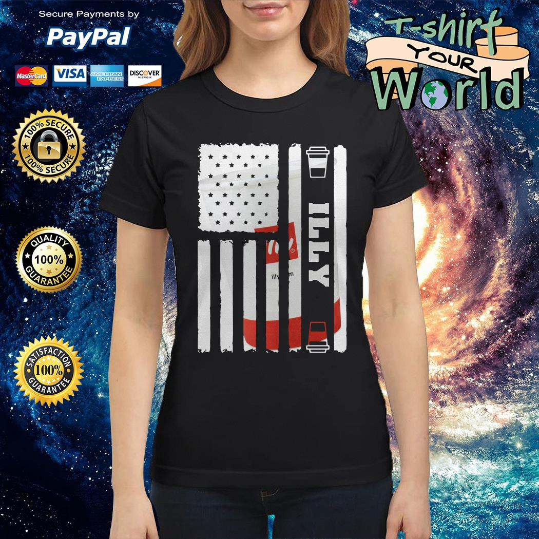 Illy american flag Ladies tee