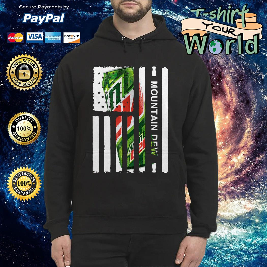 Mountain Dew independence day american flag Hoodie