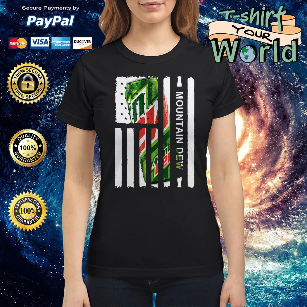Mountain Dew independence day american flag Ladies tee
