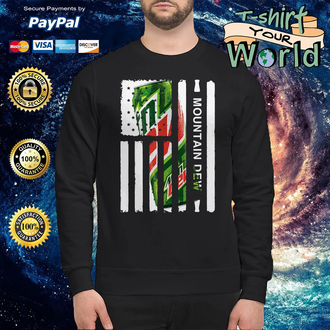 Mountain Dew independence day american flag shirt