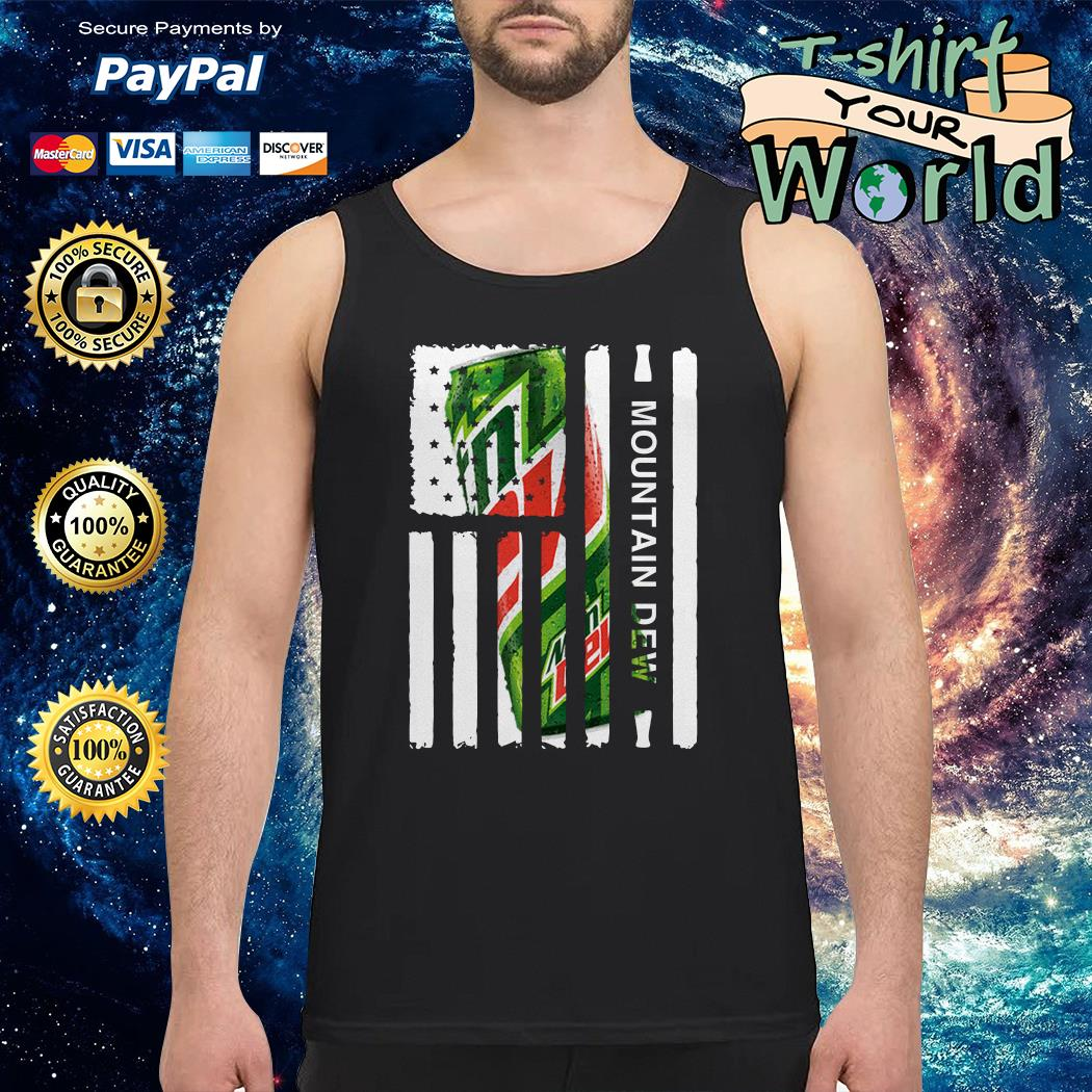 Mountain Dew independence day american flag Tank top