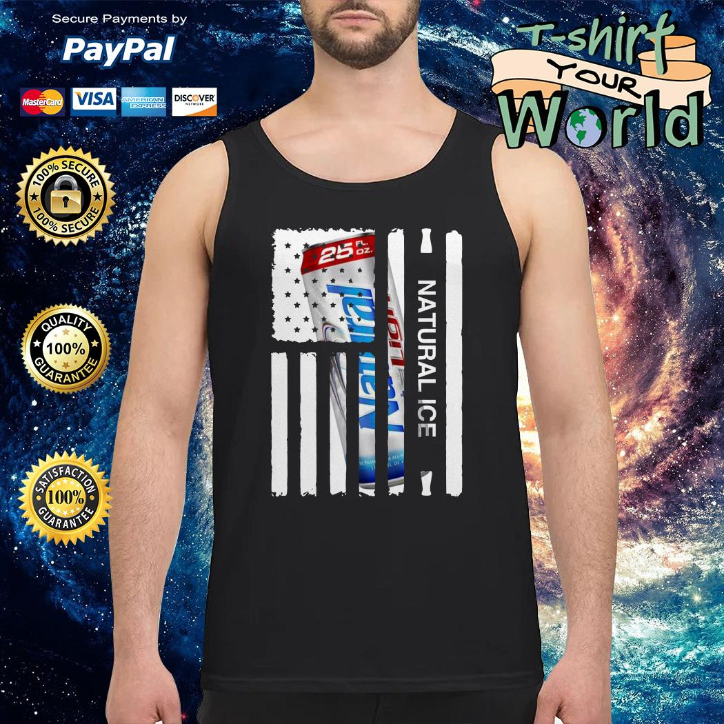 Natural Ice american flag Tank top