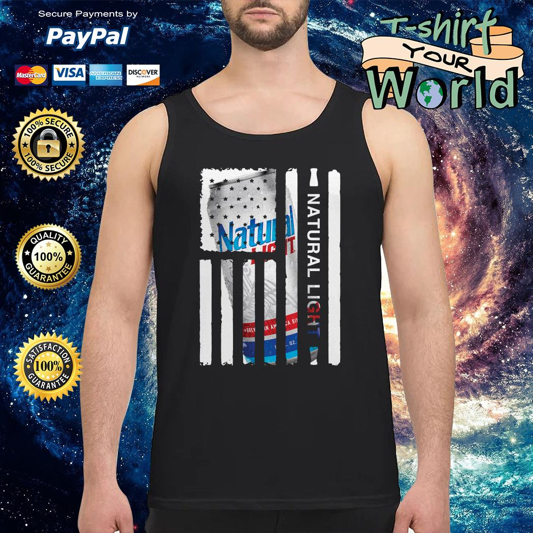 Natural Light independence day american flag Tank top