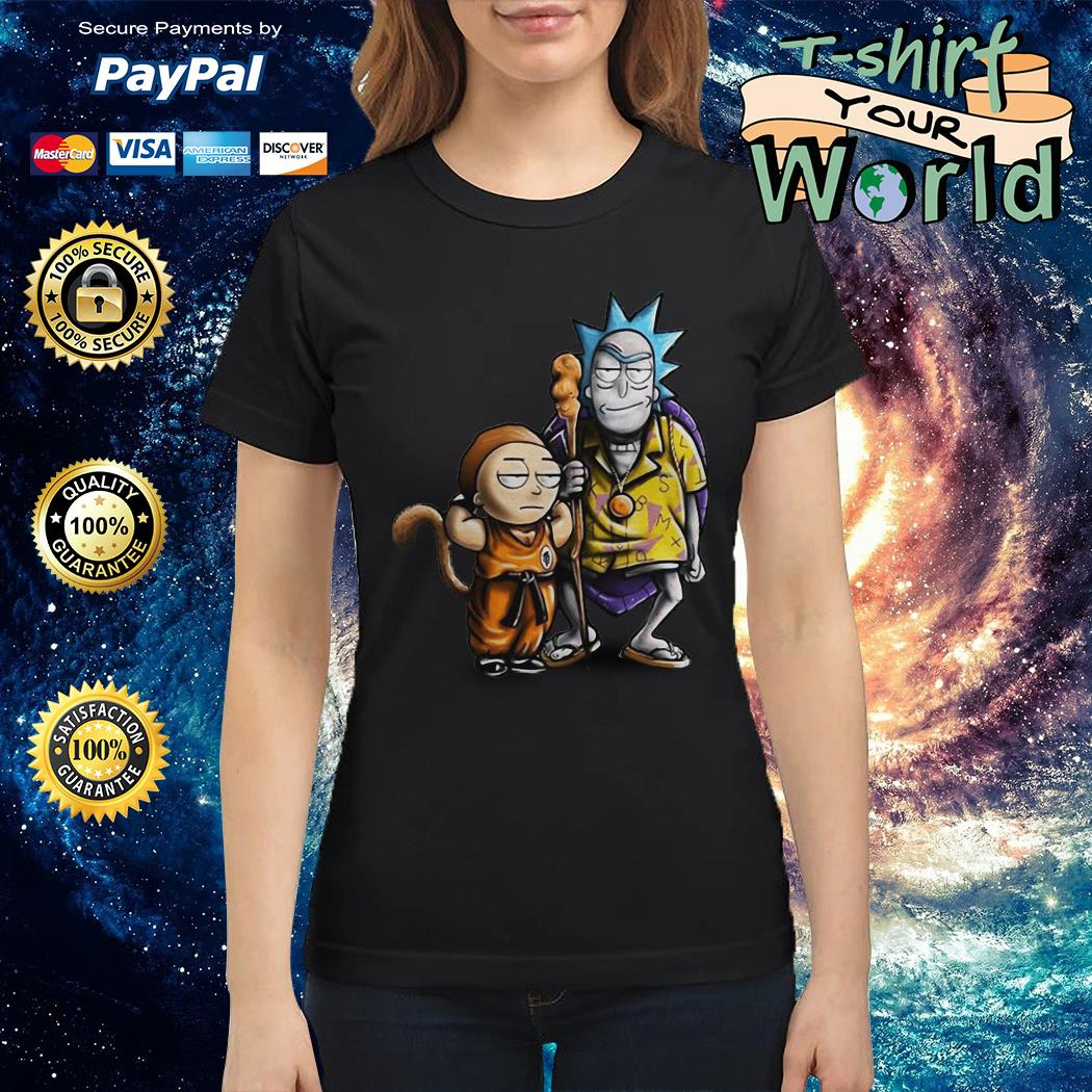 Rick and morty dragon ball Ladies tee