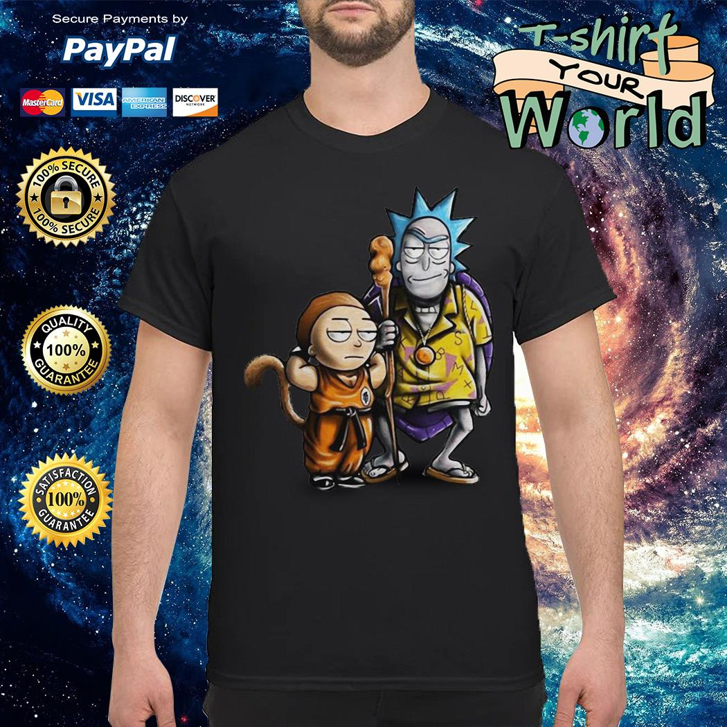 Rick and morty dragon ball shirt
