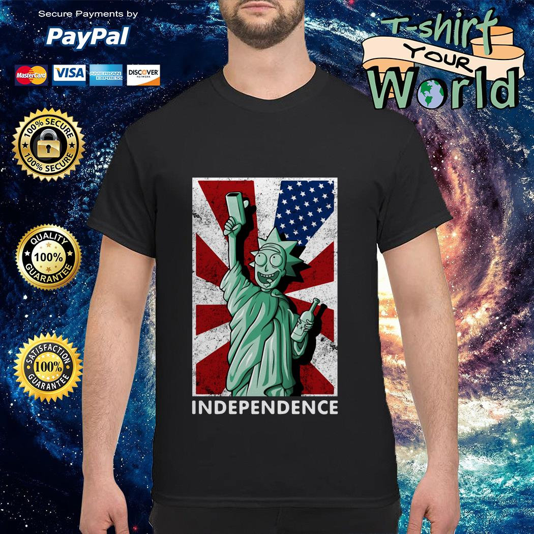 Rick and Morty statue of liberty independence Day 4th of July shirt