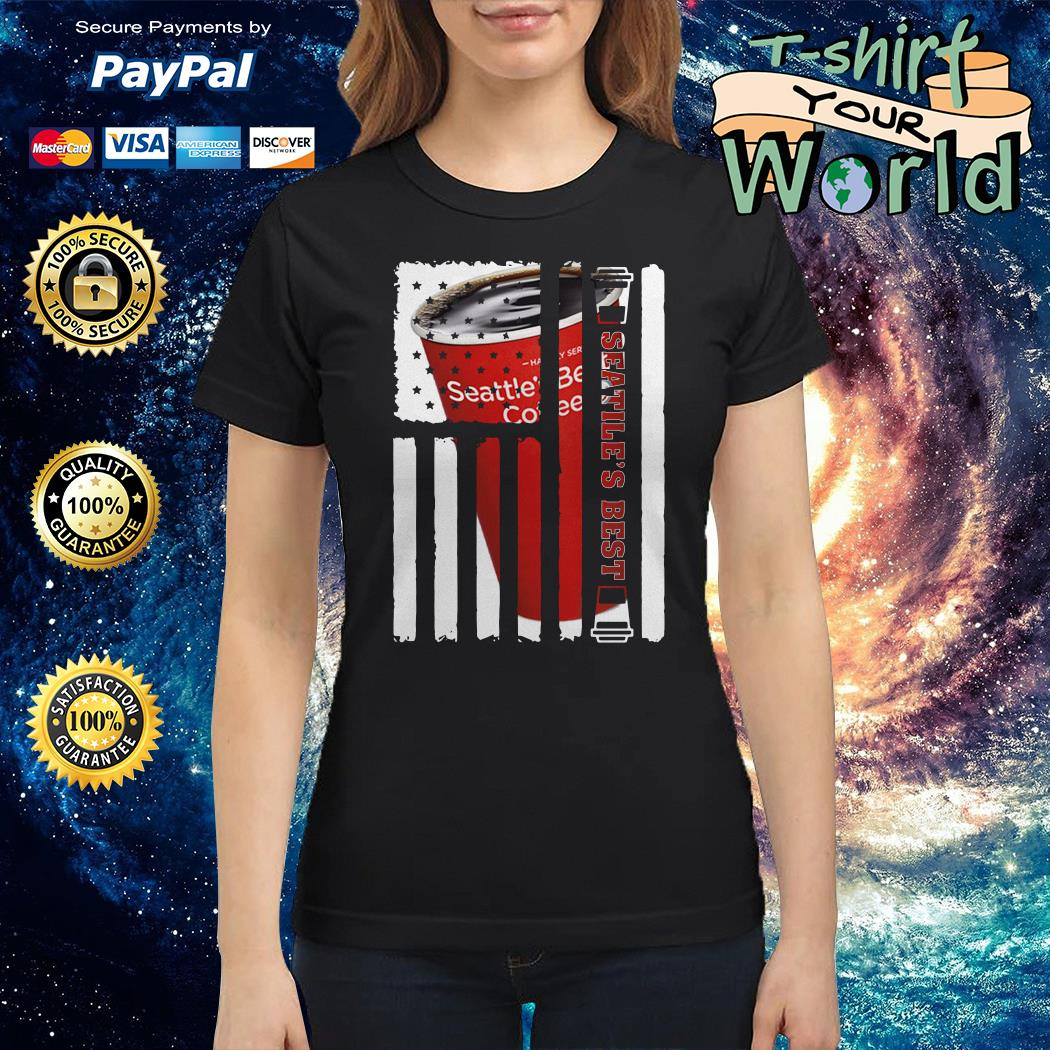 Seattle Best american flag Ladies tee