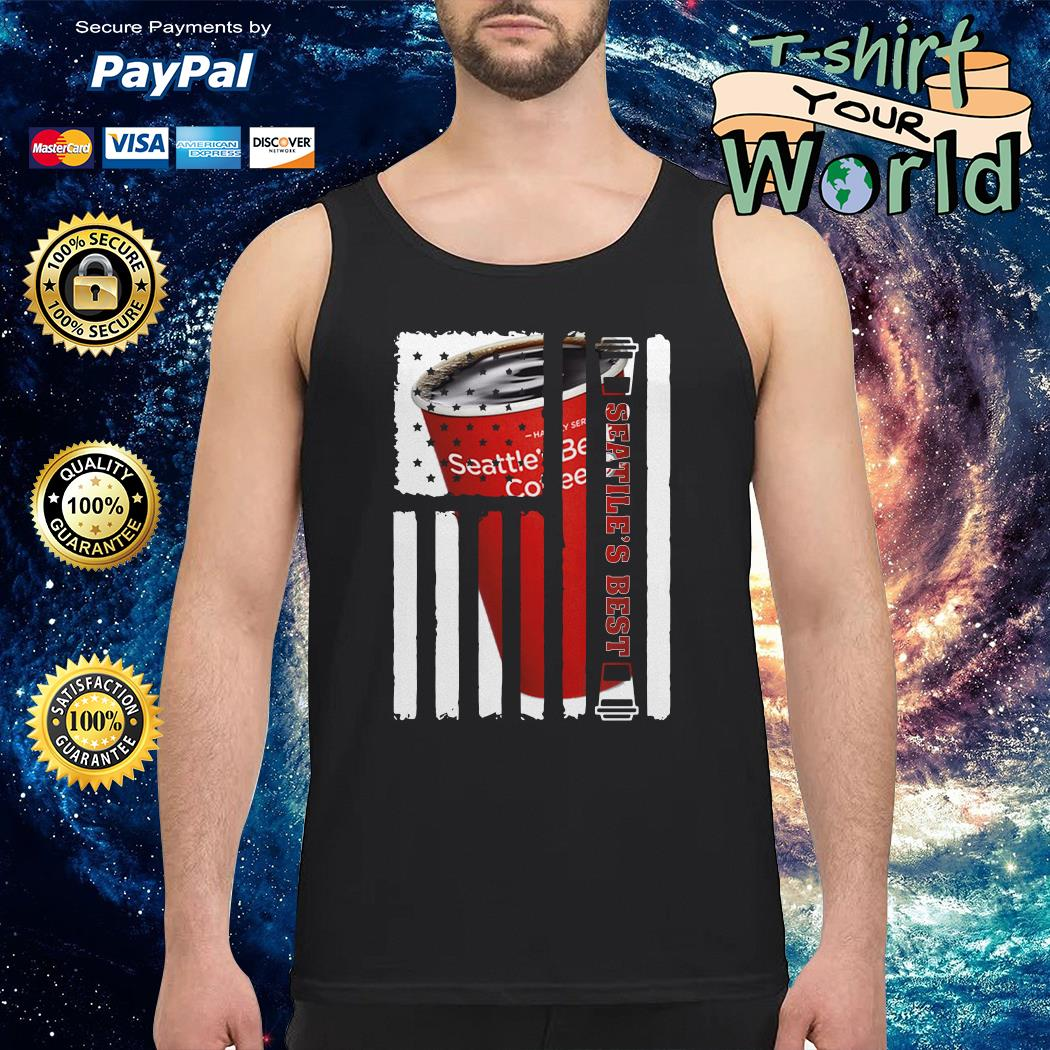 Seattle Best american flag Tank top