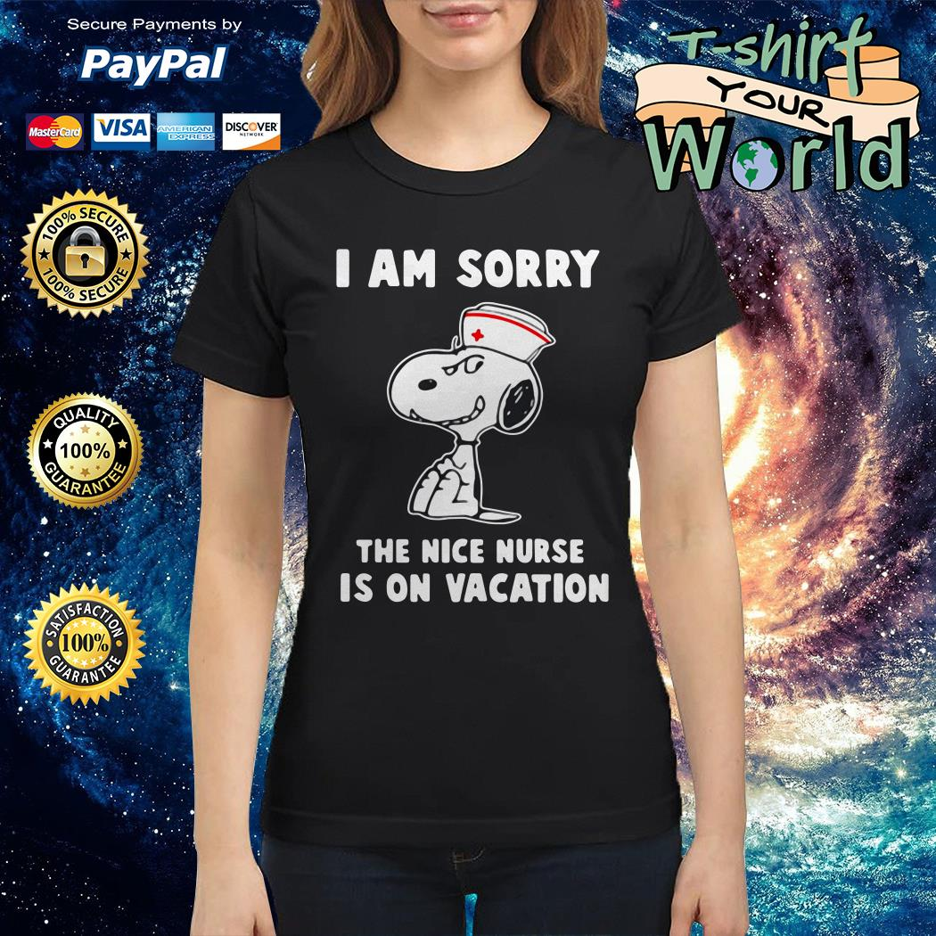 Snoopy i'm sorry the nice nurse is on vacation shirt