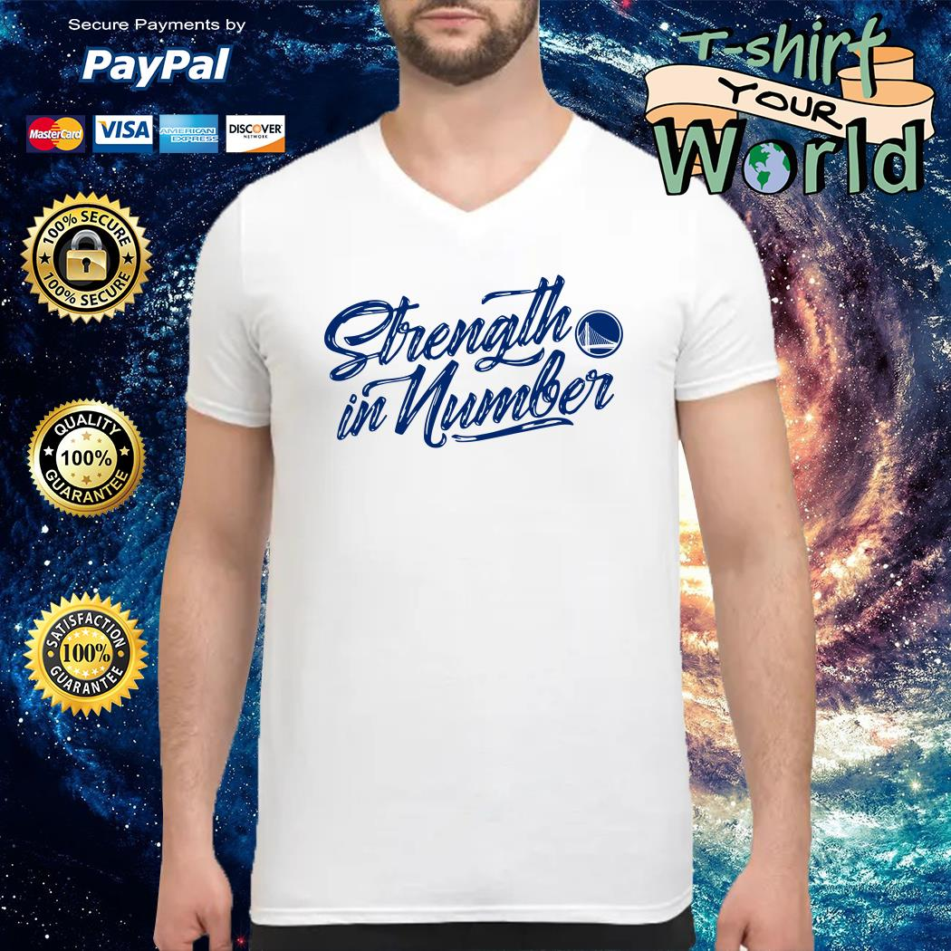 Strength in numbers warriors V-neck t-shirt