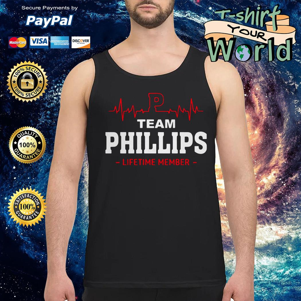 Team phillips lifetime member Tank top