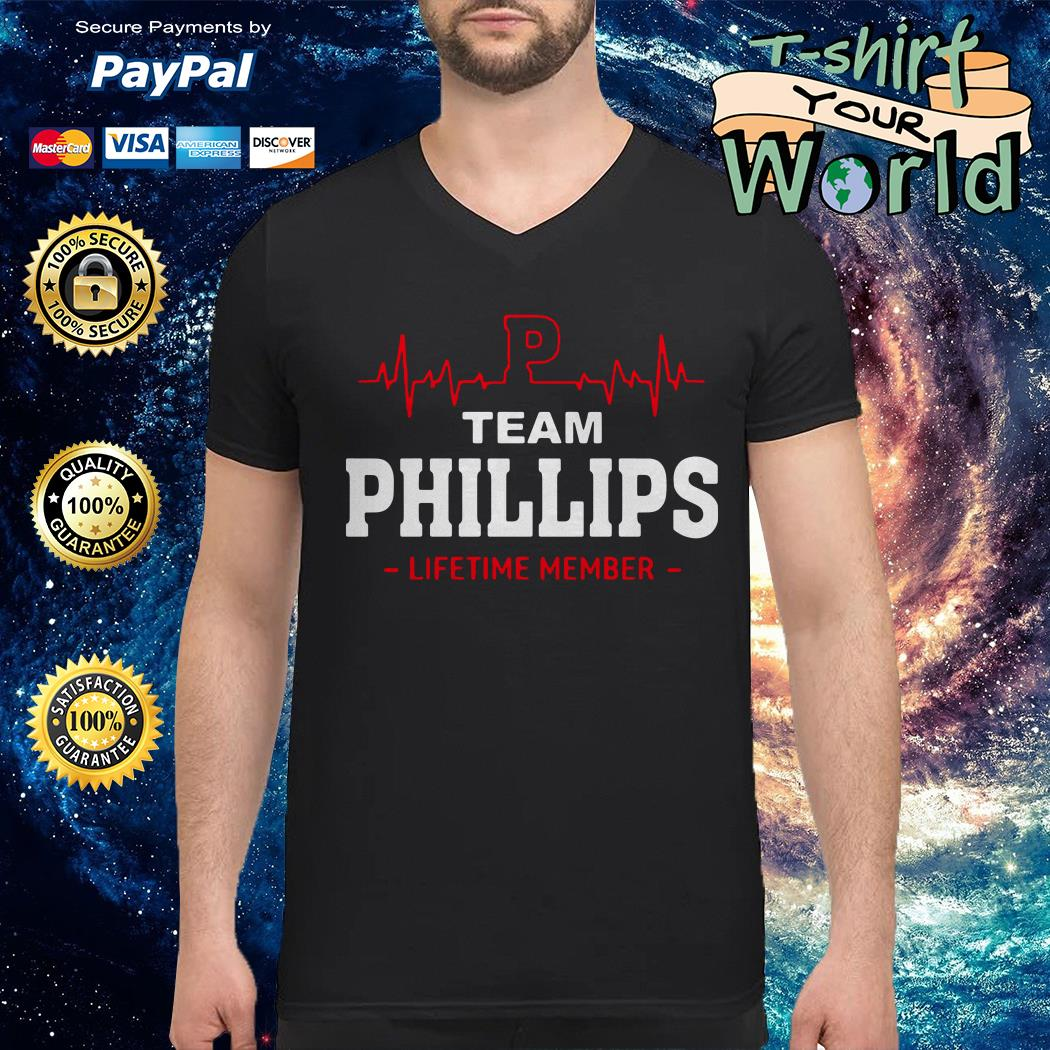Team phillips lifetime member V-neck t-shirt