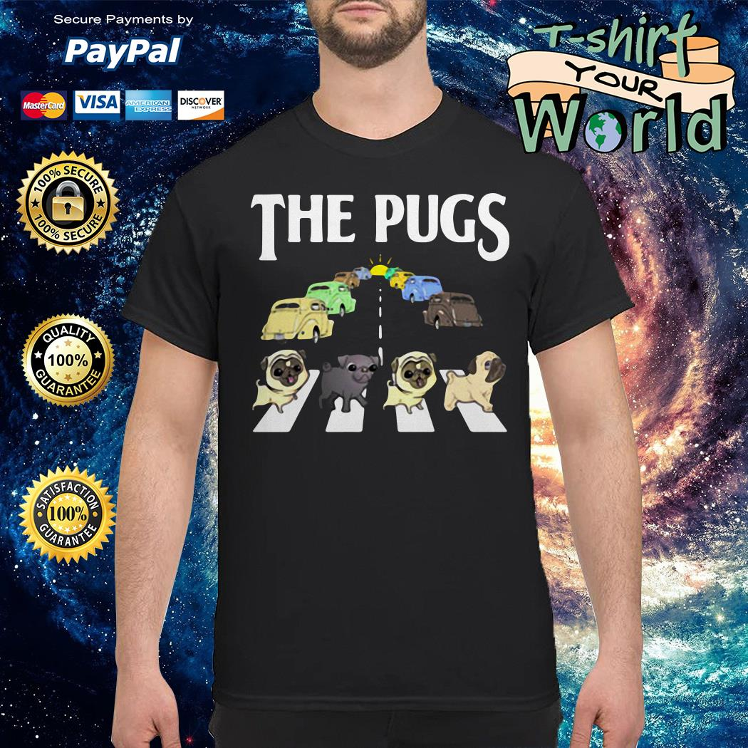 The pugs crosswalk the beatles style shirt
