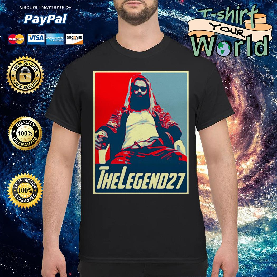 Thor fat the legend 27 avenger endgame vintage shirt