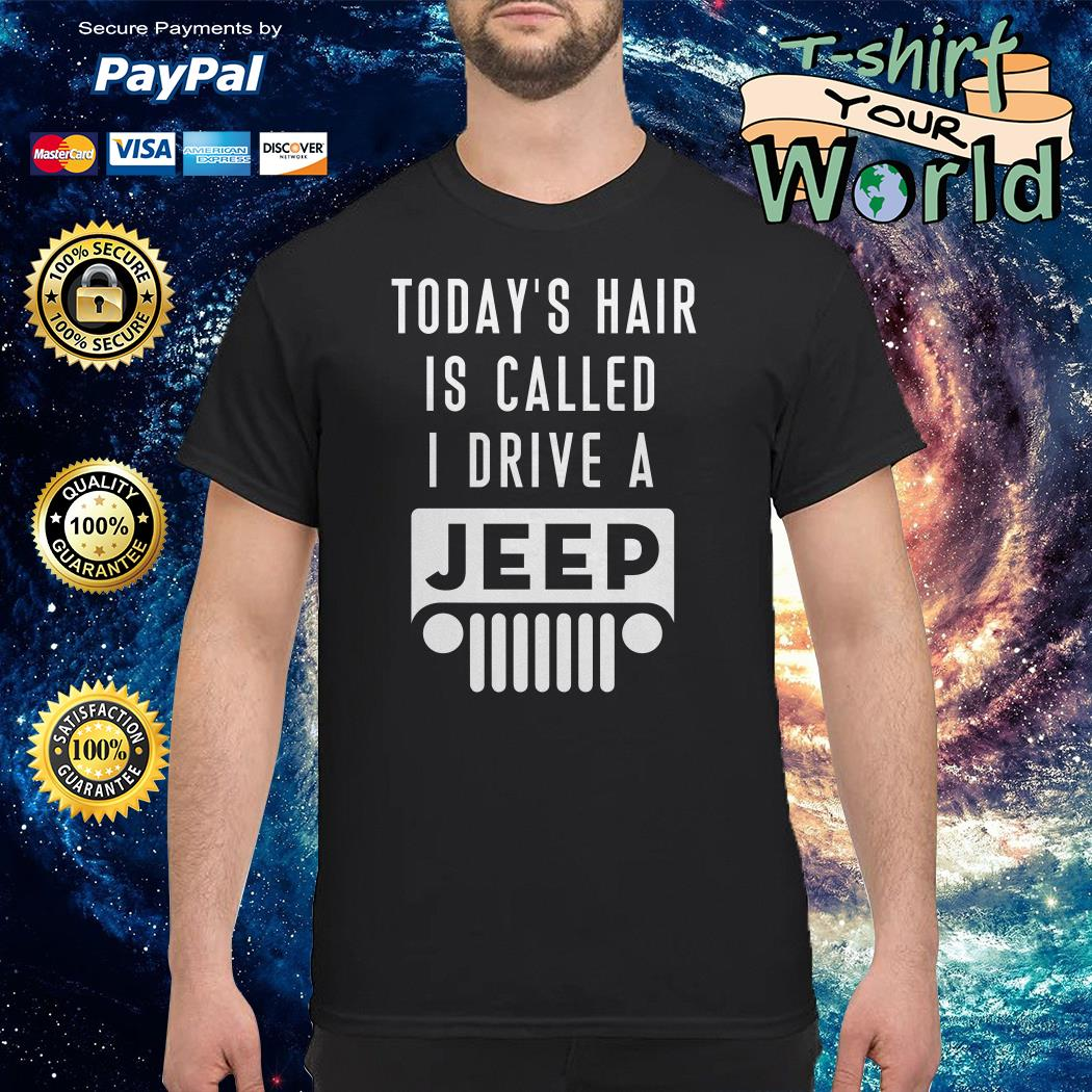 Today's hair is called I drive a Jeep shirt