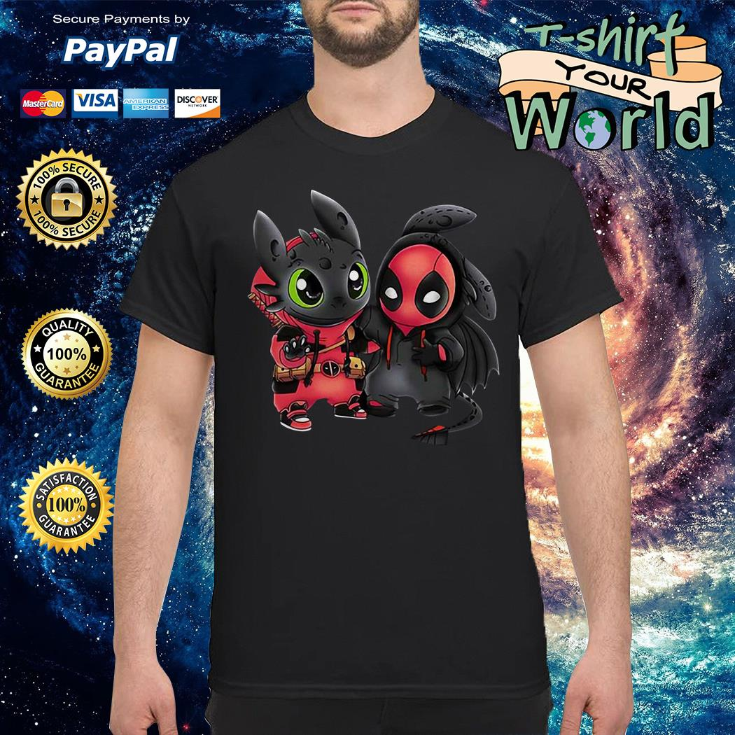 Toothless and deadpool shirt