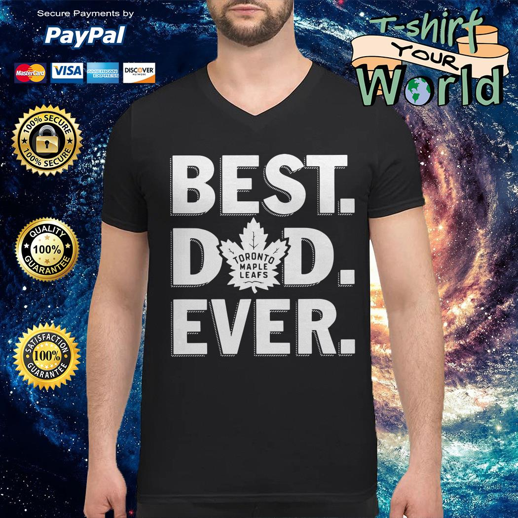 Toronto maple leafs best Dad ever V-neck t-shirt
