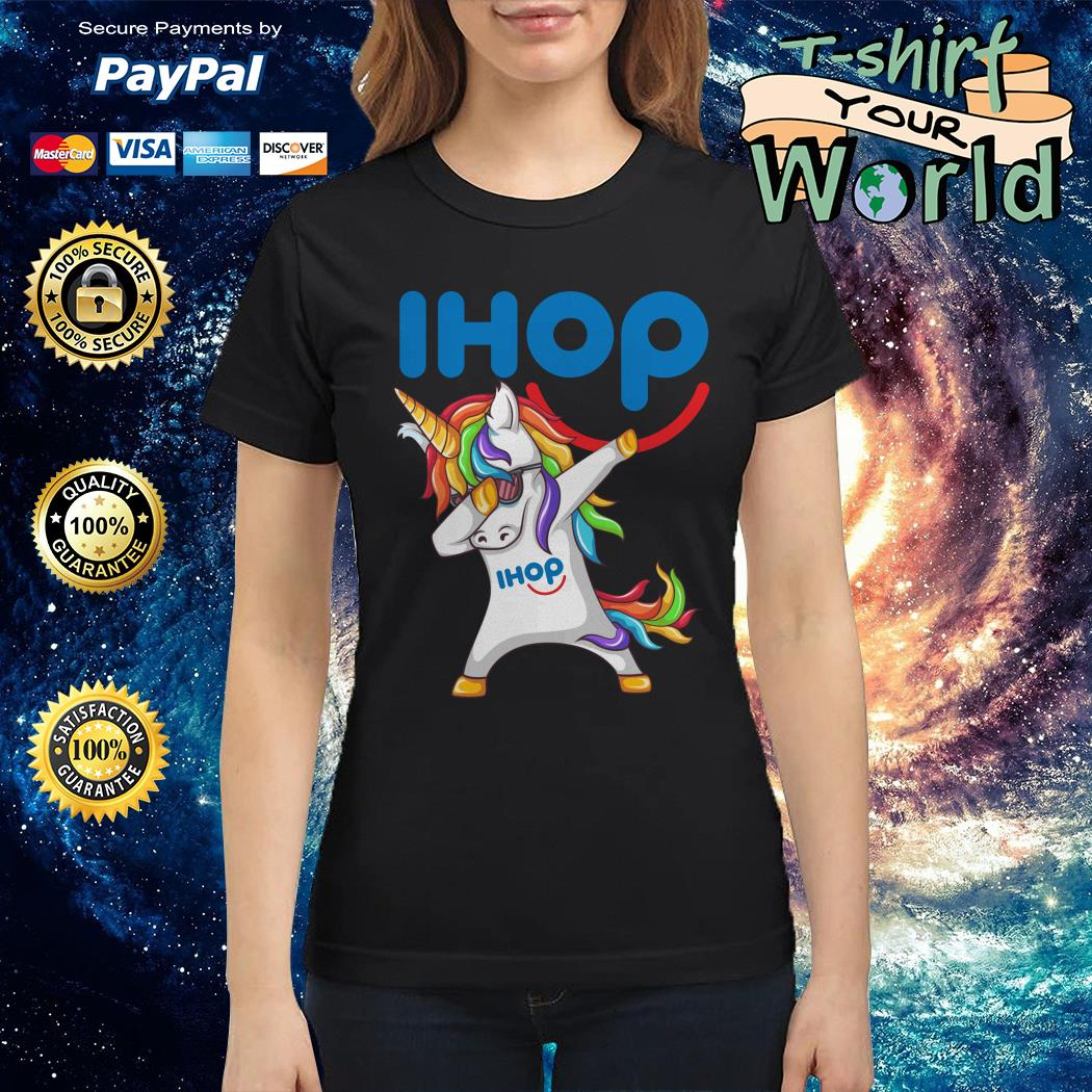 Unicorn dabbing ihop Ladies tee